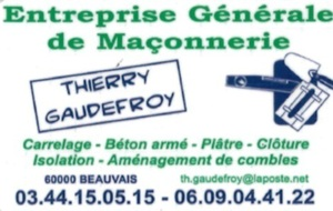 Maçonnerie Thierry GAUDEFROY